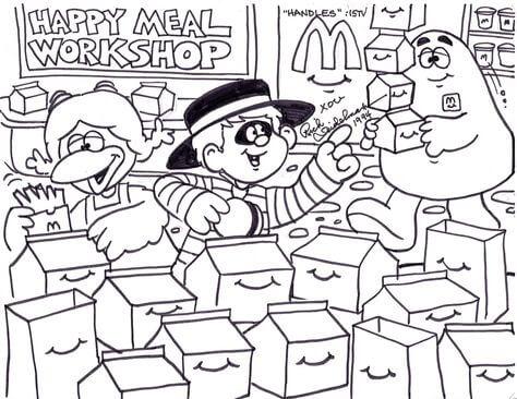 Desenhos de Um Canto De Um Restaurante McDonald's para colorir