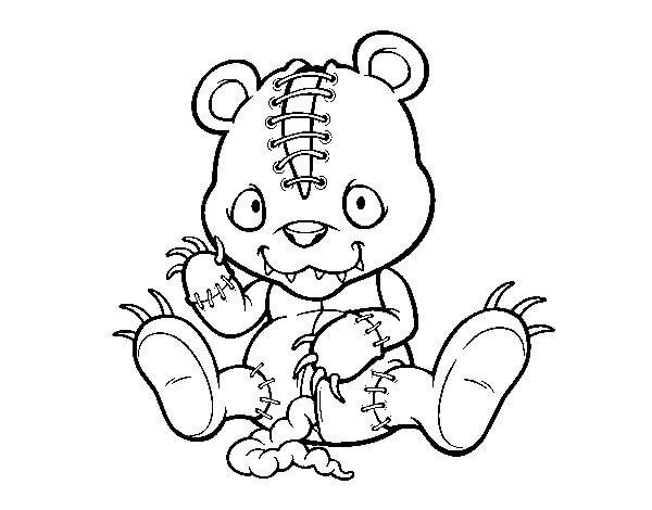 Desenhos de Ursinho Assustador E Esfarrapado para colorir