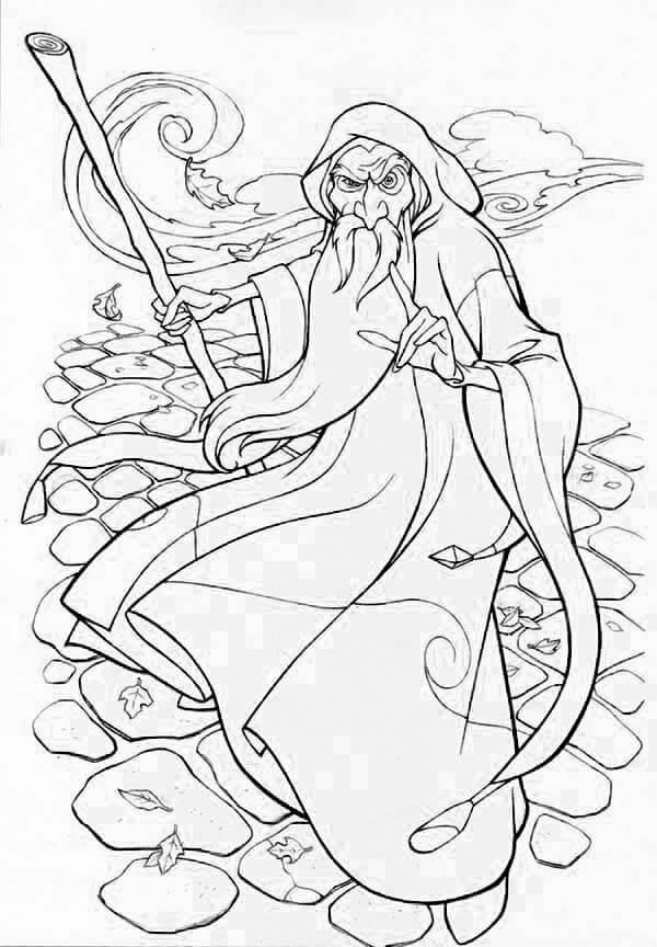 Desenhos de Vento Mago para colorir