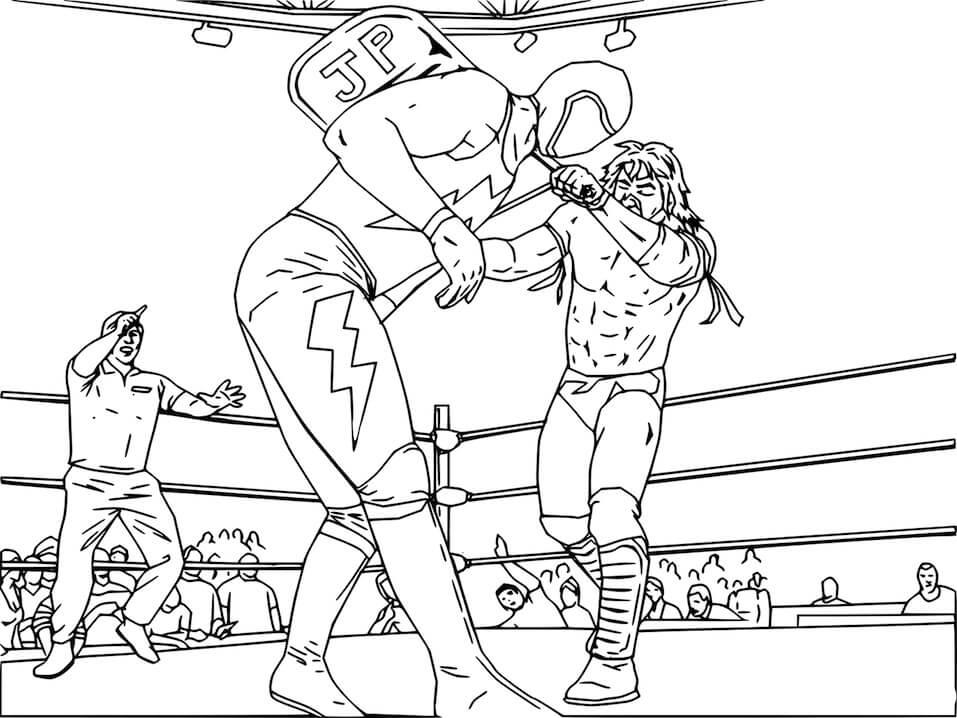 Desenhos de WWE Luta Livre para colorir