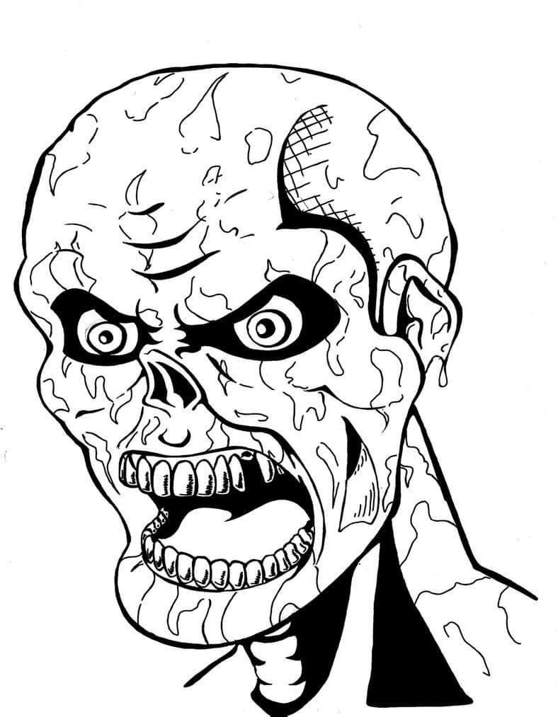 Desenhos de Zumbi Assustador para colorir