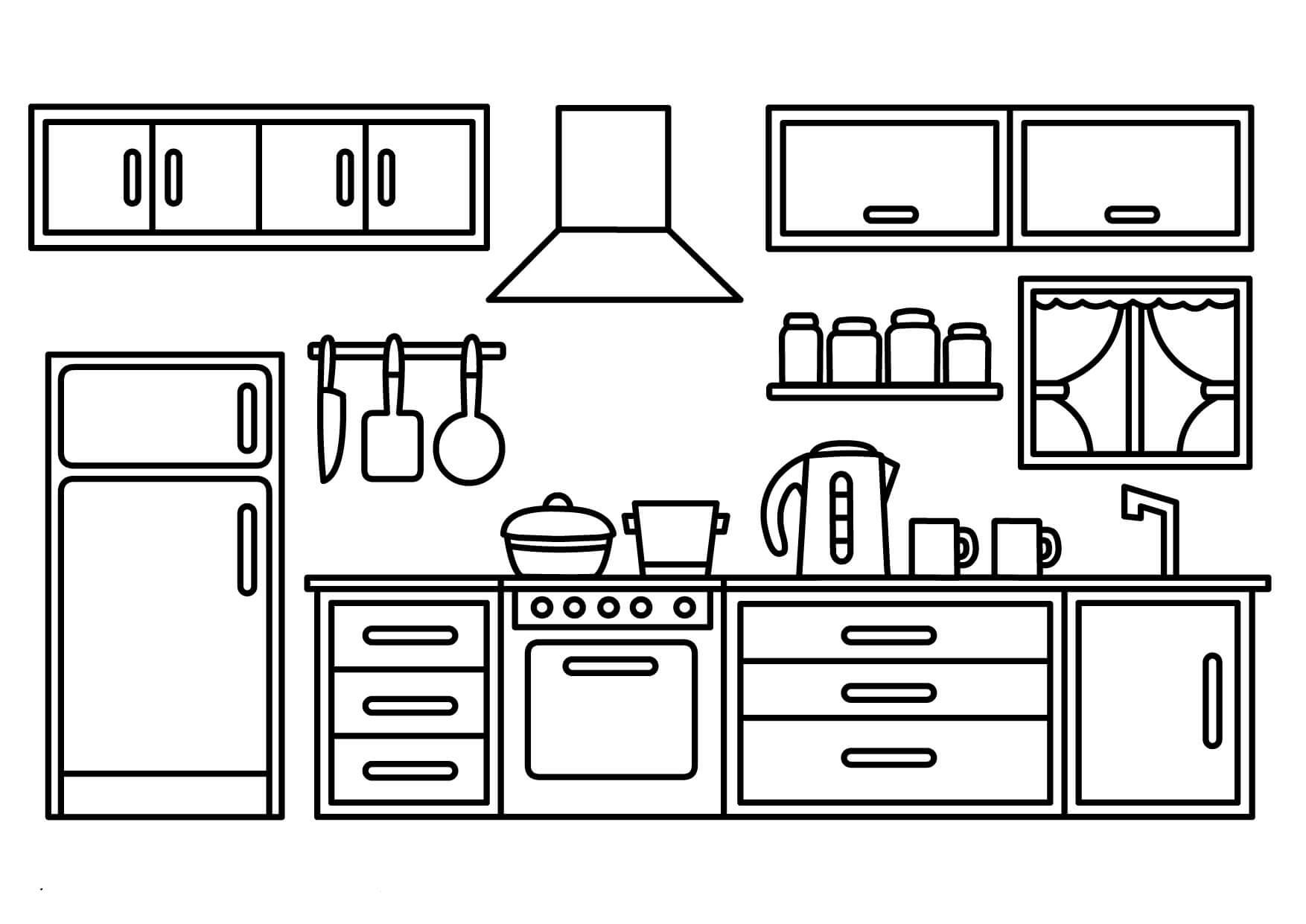 Desenhos de Armário De Cozinha para Colorir