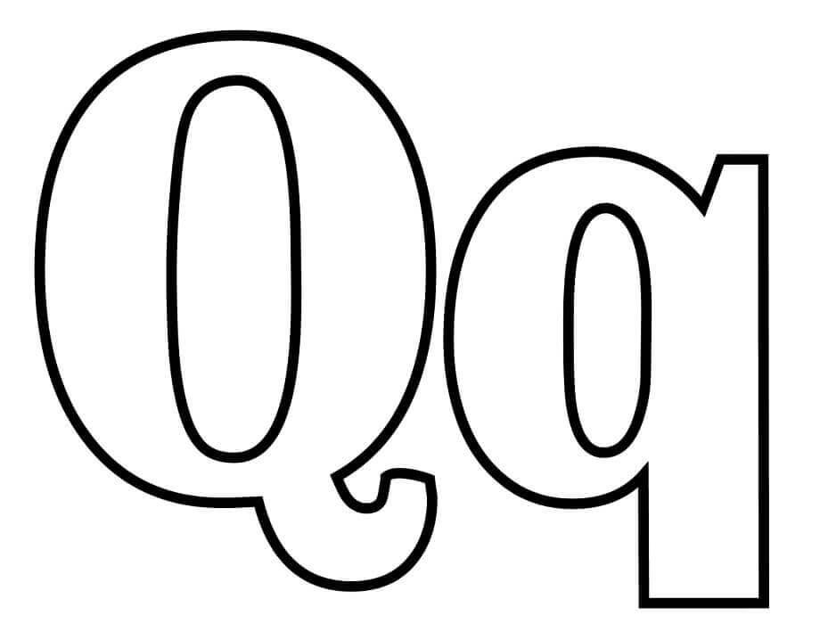 Desenhos de Letra Q para Colorir