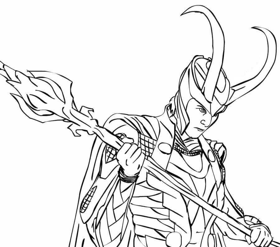 Desenhos de Loki para Colorir