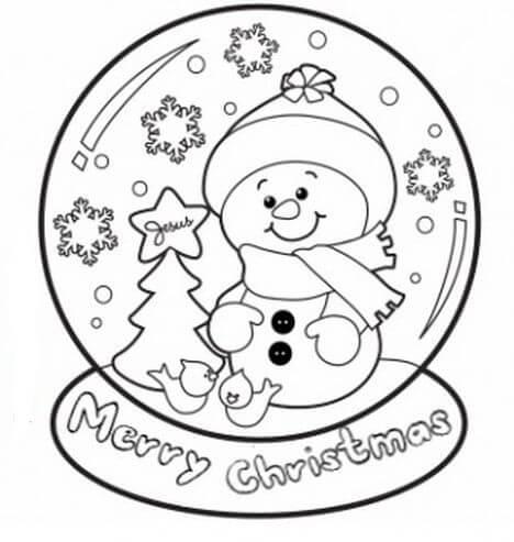 Desenhos de Boneco De Neve para Colorir