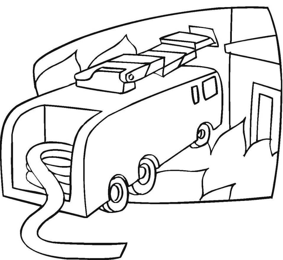 Desenhos de Caminhão De Bombeiros para Colorir