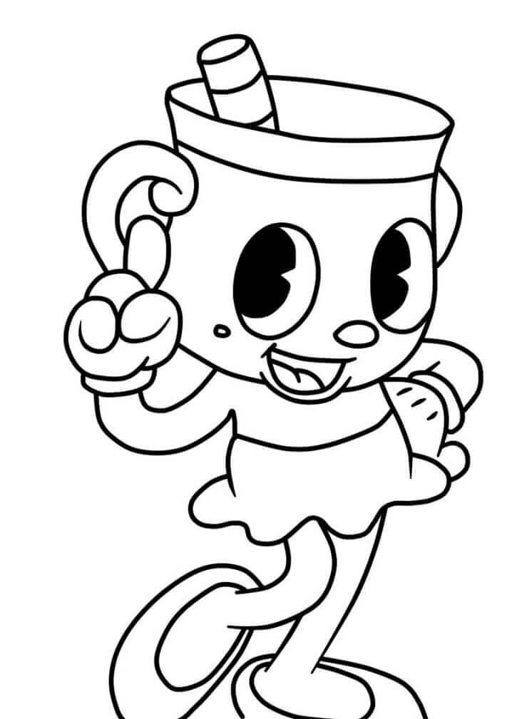 Desenhos de Cuphead para Colorir