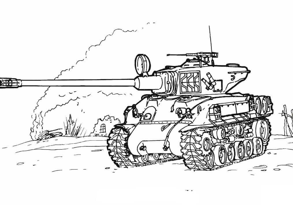 Desenhos de Tanque para Colorir