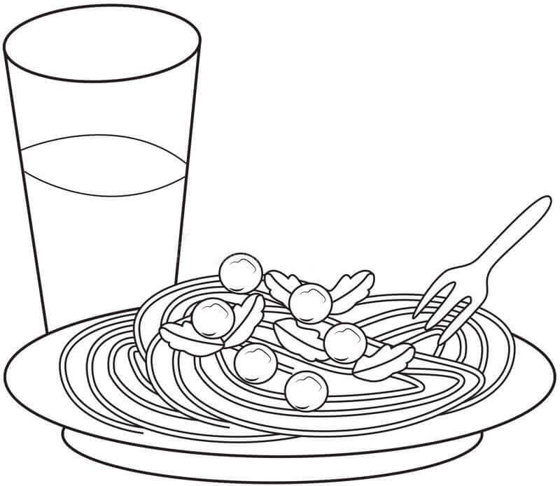 Desenhos de Pasta para Colorir