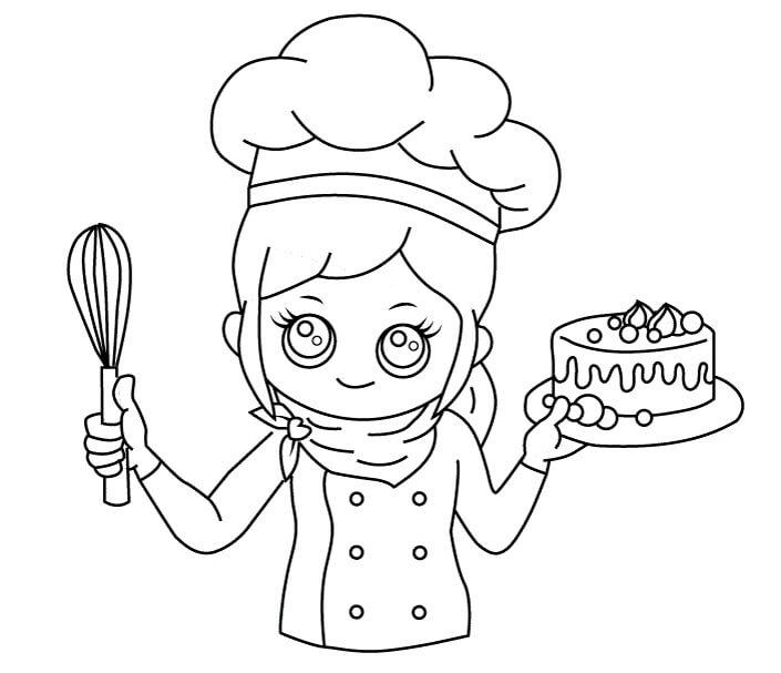 Desenhos de Chefe De Cozinha para Colorir
