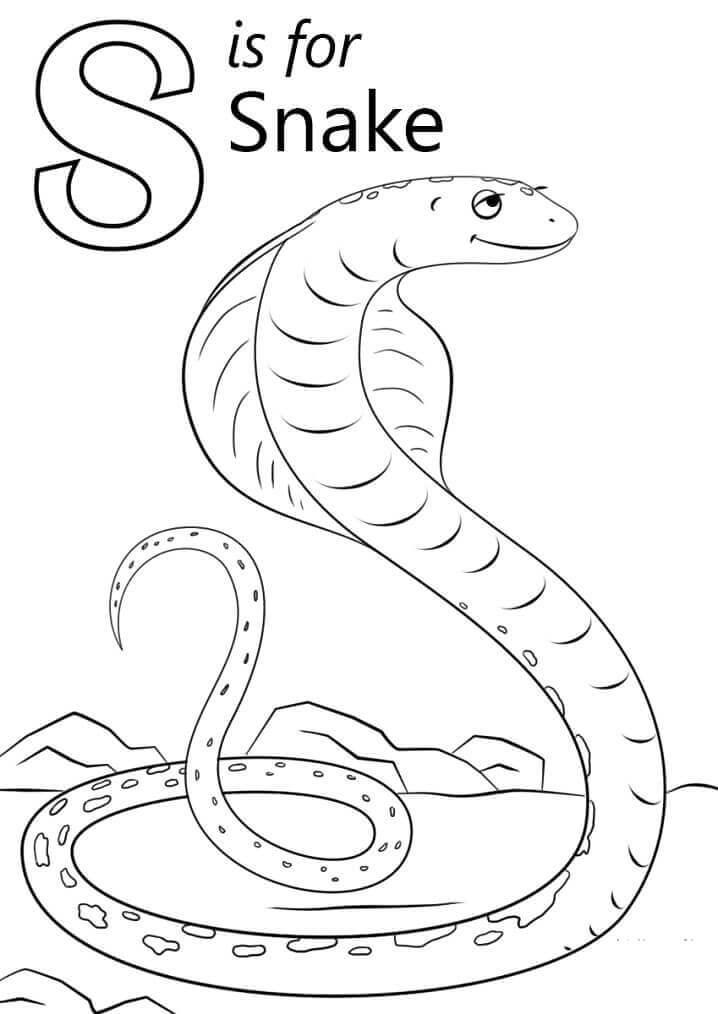 Desenhos de Letra S para Colorir