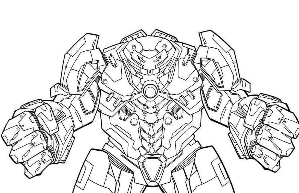 Desenhos de Hulkbuster para Colorir