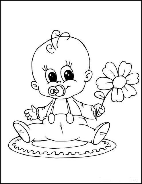 Desenhos de Bebê para Colorir
