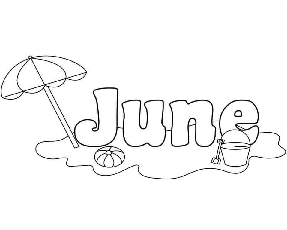 Desenhos de Junho para Colorir