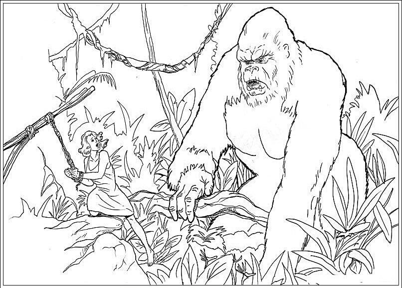 King Kong para Colorir