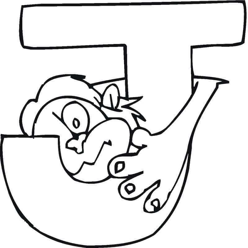 Desenhos de Letter J para Colorir