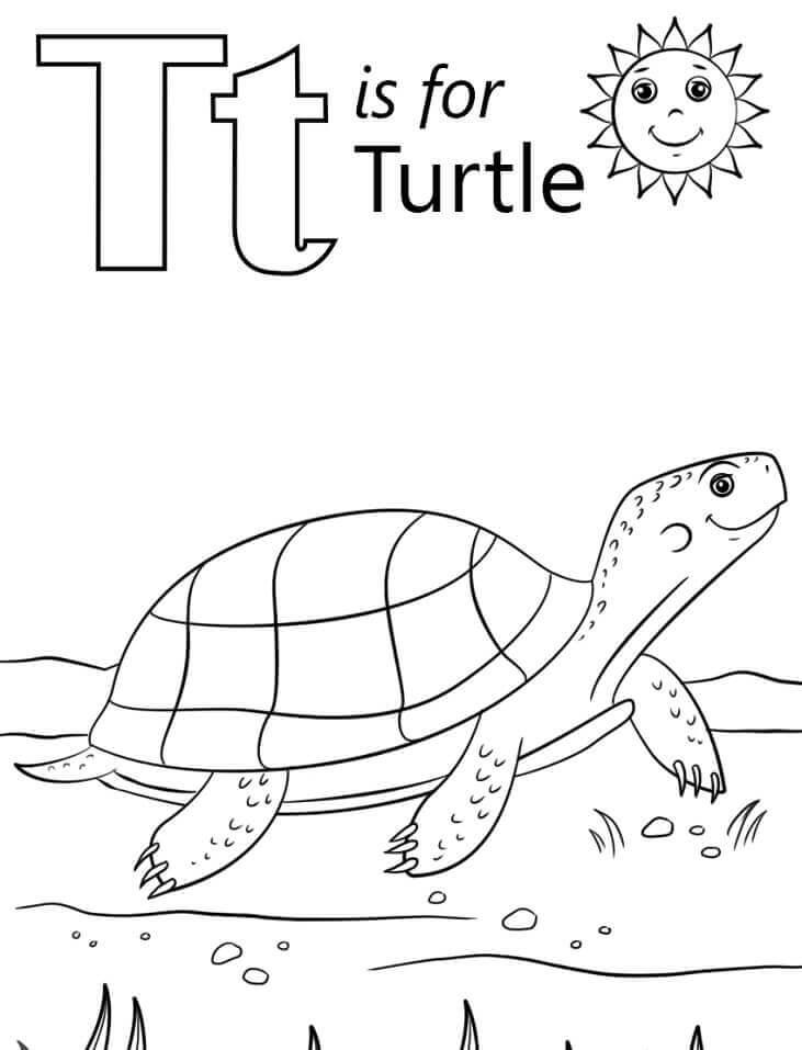 Desenhos de Letra T para Colorir