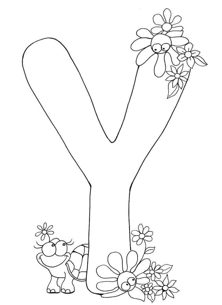 Desenhos de Letra Y para Colorir