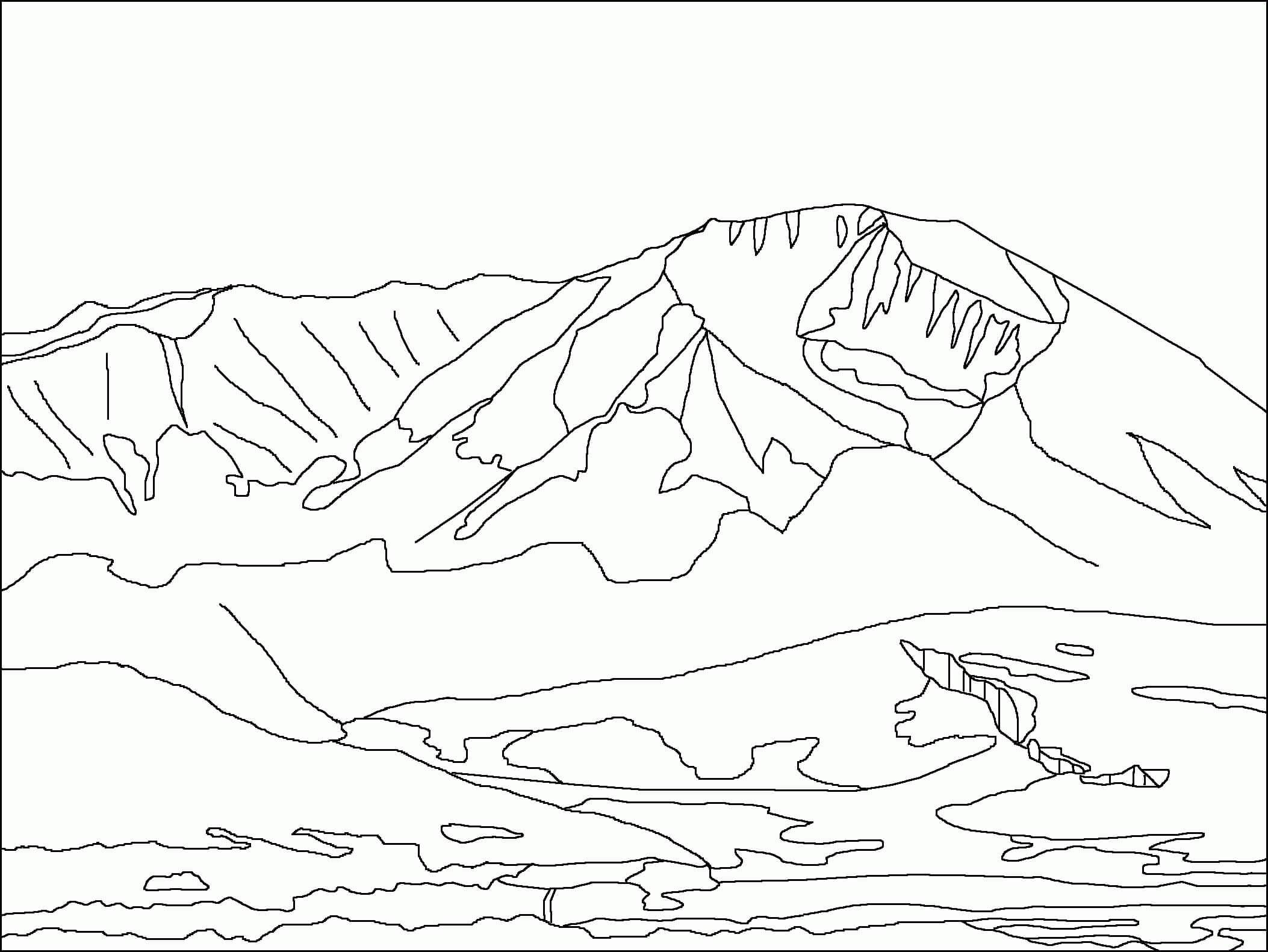 Desenhos de Montanha para Colorir