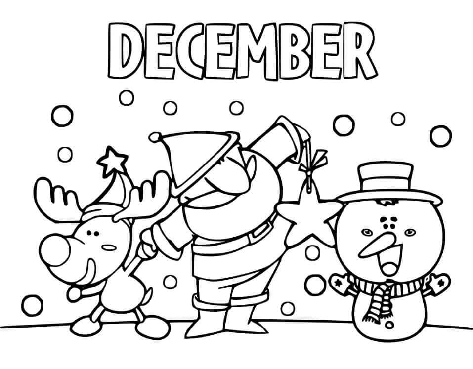 Desenhos de Dezembro para Colorir