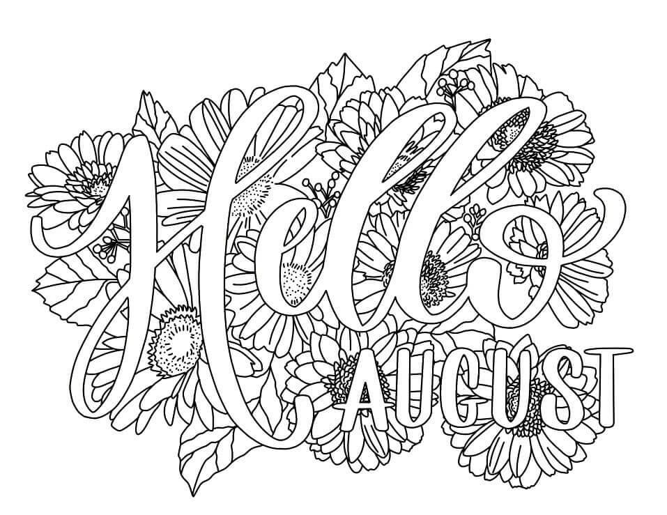 Desenhos de Agosto para Colorir
