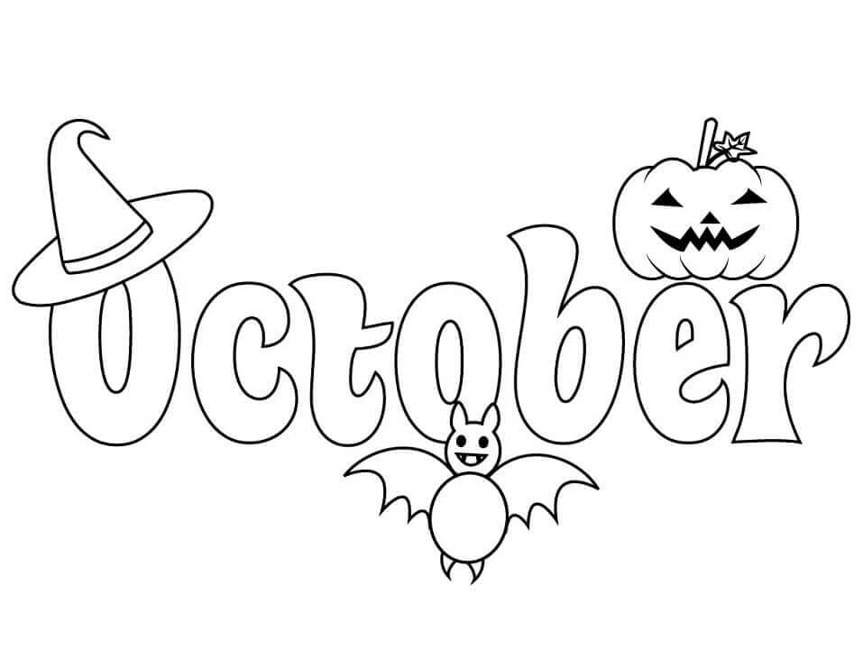 Desenhos de Outubro para Colorir