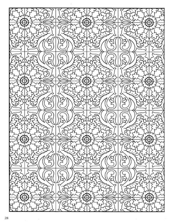 Desenhos de Telha para Colorir