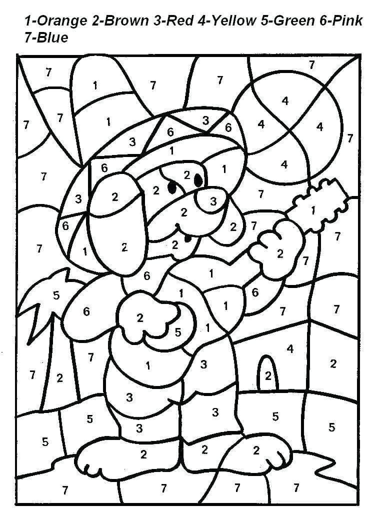 Desenhos de Com Números para Colorir