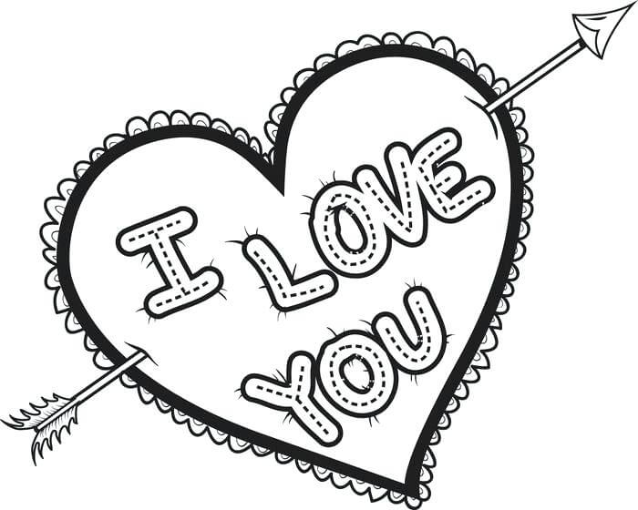 Desenhos de Namorados para Colorir
